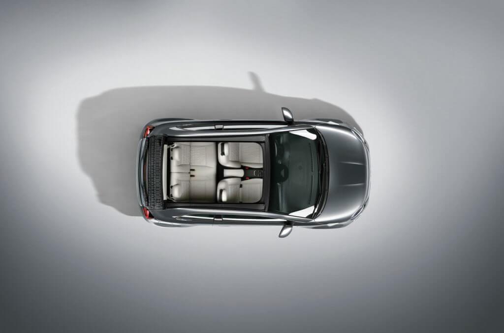 Neuvorstellung: Fiat 500 | Ansicht von oben mit geöffnetem Dach