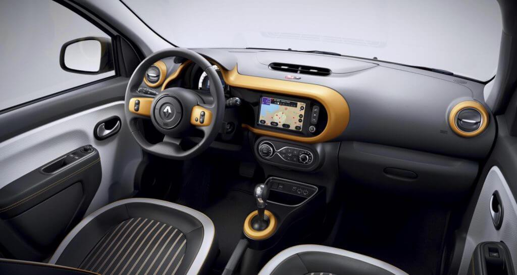 Neuvorstellung: Renault Twingo Z.E. | Innenleben in der Farbe Gelb